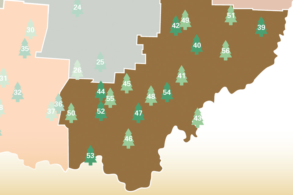 Southeast Ohio State Park Campgrounds Map