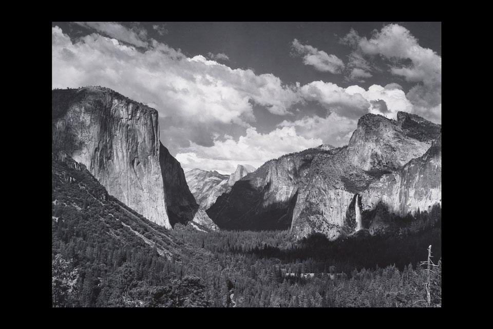 Yosemite-Valley-from-Wawona-Tunnel-Esplanade-Ansel-Adams