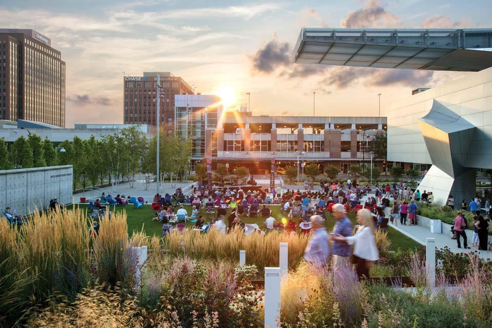 Akron Art Museum garden