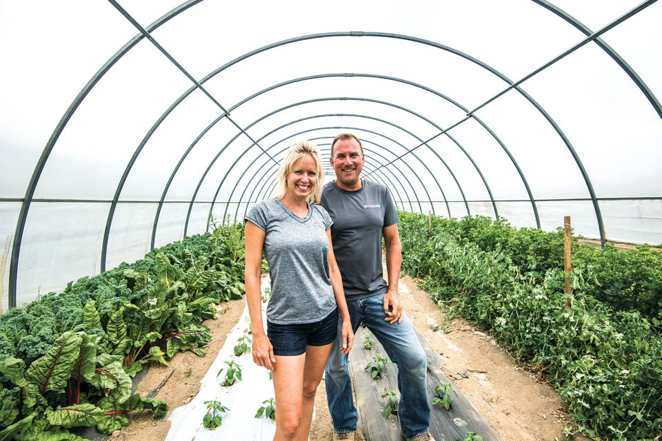 Amy and Floyd Davis of Red Basket Farm