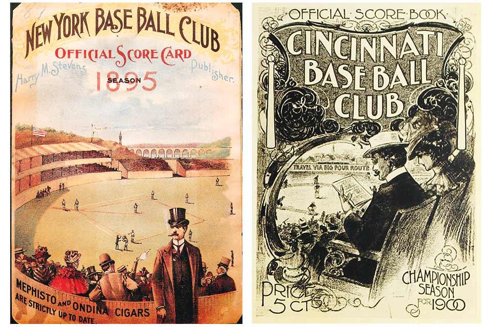 Harry Stevens' baseball scorecards