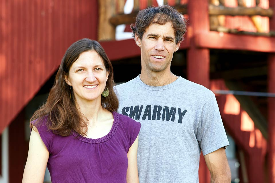 Jane and Isaac Barnes of Honeyrun Farm