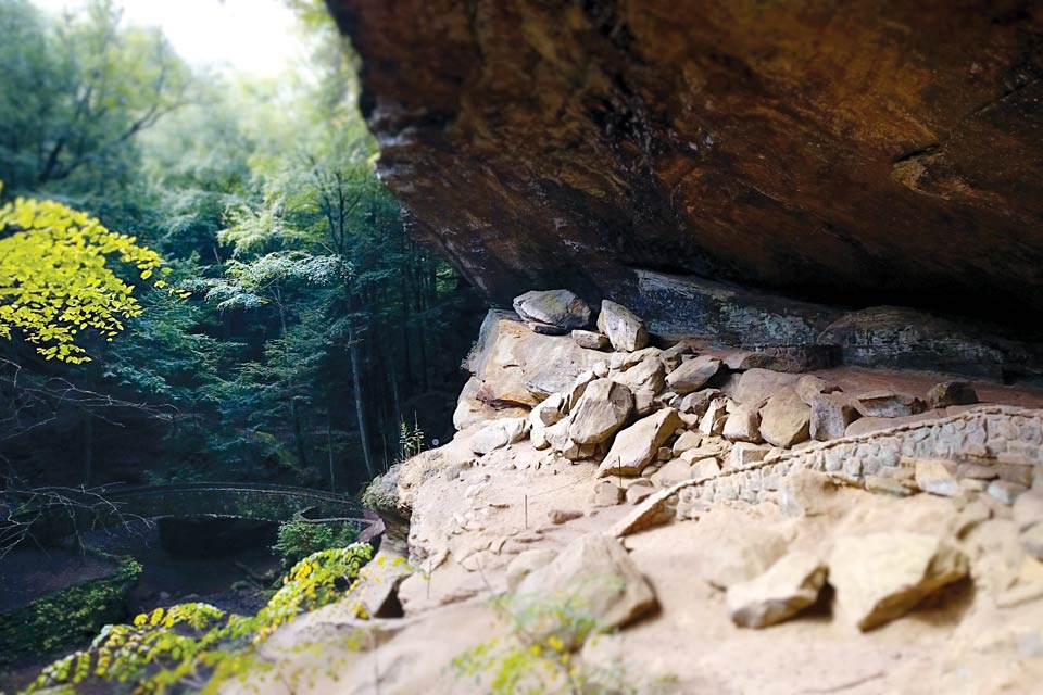 Old Man's Cave in the Hocking Hills