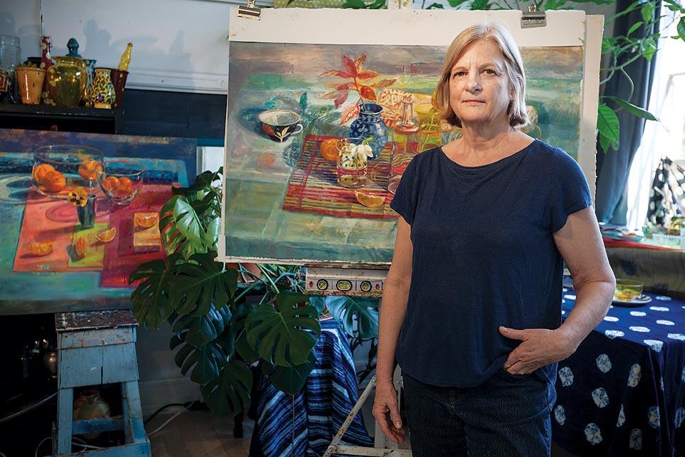 Carol Stewart in her studio