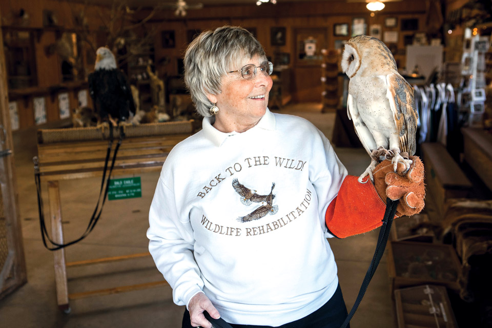 Mona Rutger and a Barn Owl at Back to the Wild