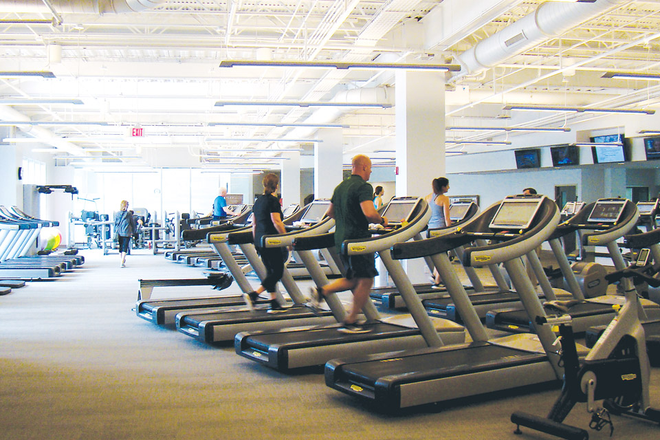 Treadmills at the Phillip Heit Center for Healthy New Albany