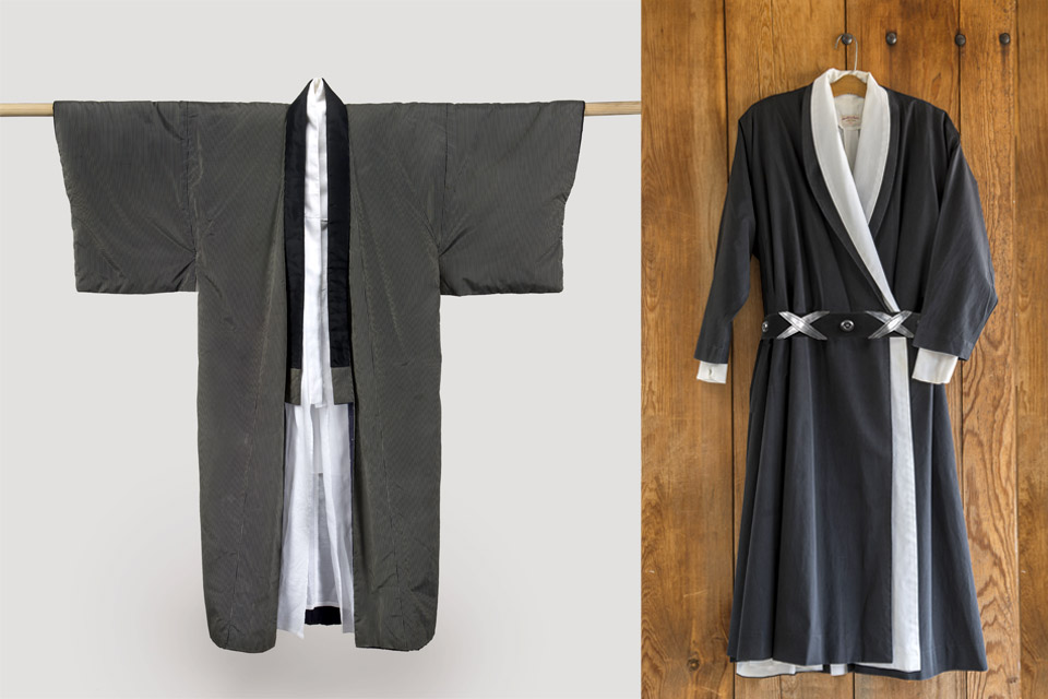 Kimono and Wrap Dress with Belt
