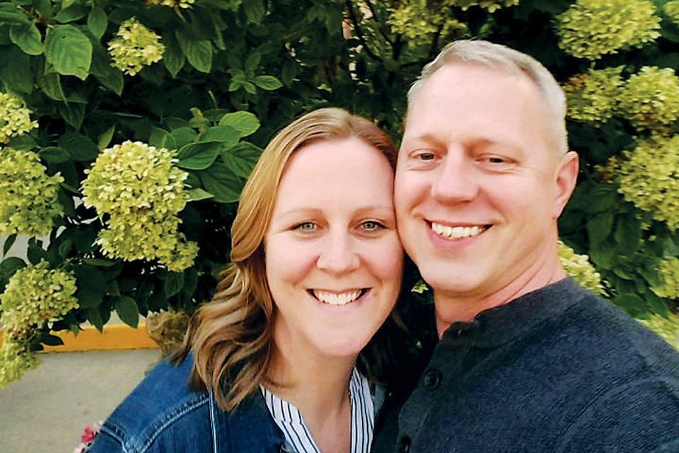 Brad Imthurn with his wife, Jen