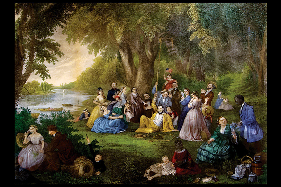 "Lilly Martin Spencer ""The Picnic or the Fourth of July"""