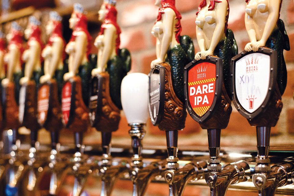 Royal Docks Brewing Co. taps