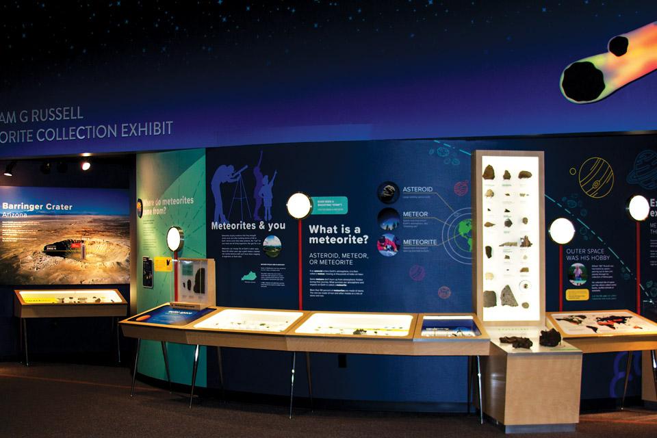Gheens Science Hall meteorite exhibit
