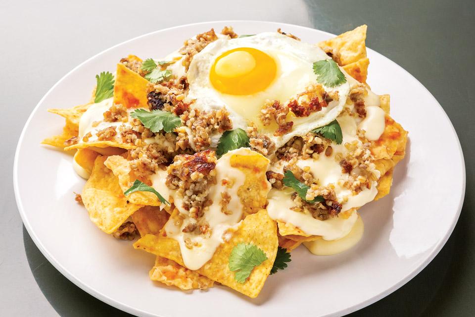 Breakfast Nachos with Goetta