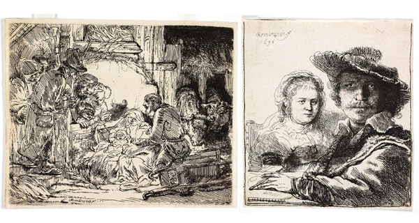 "Rembrandt's ""Adoration of the Shepherds"" and ""Self-Portait with Saskia"""
