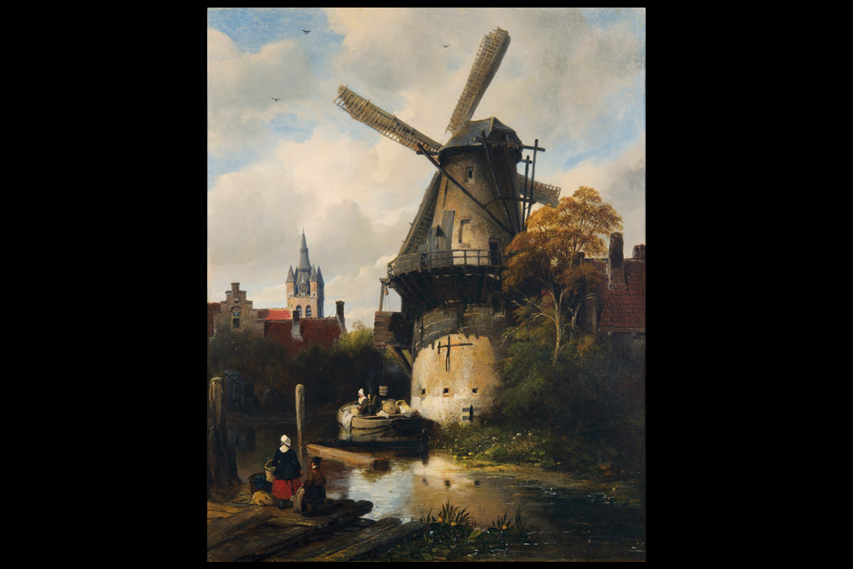 "Antoine Waldorp's ""Mill with a view of Delft"""