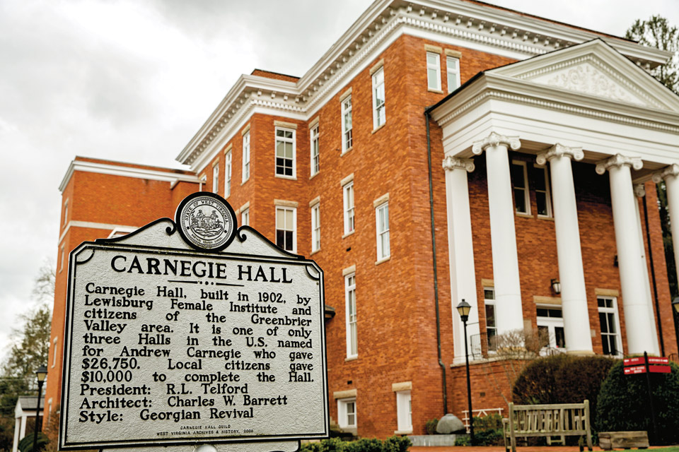 Carnegie Hall in Lewisburg, West Virginia