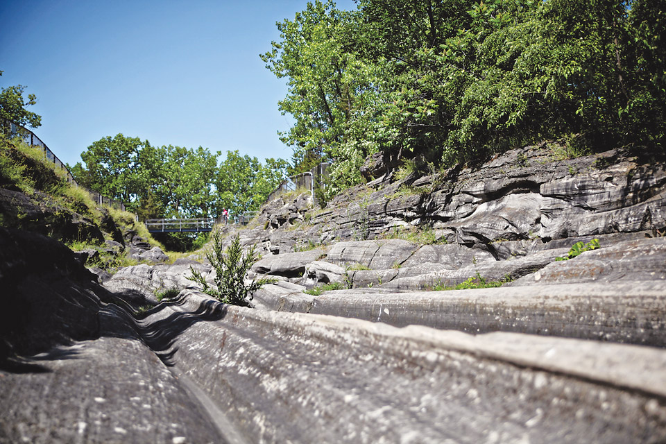Glacial Grooves Geological Preserve