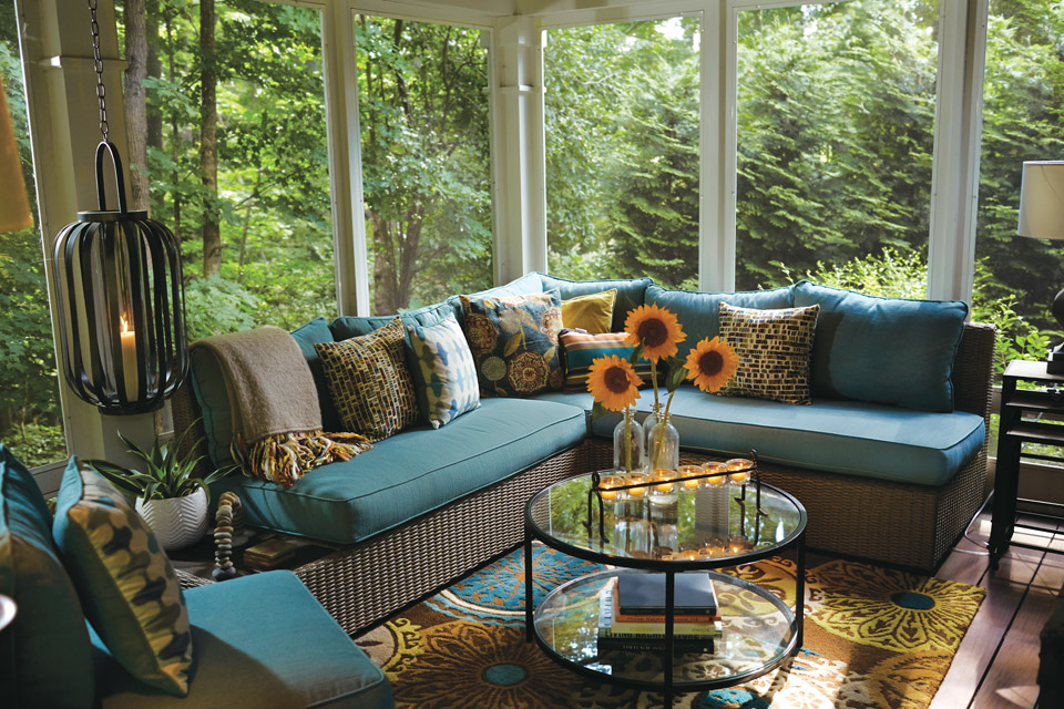 The Thorn home sunroom