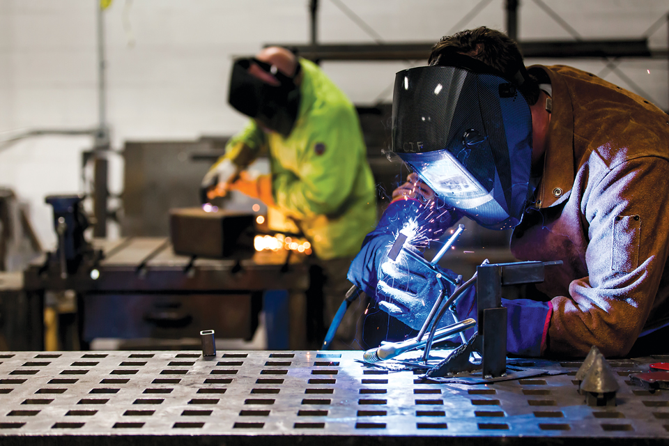 Welding at the Idea Foundry