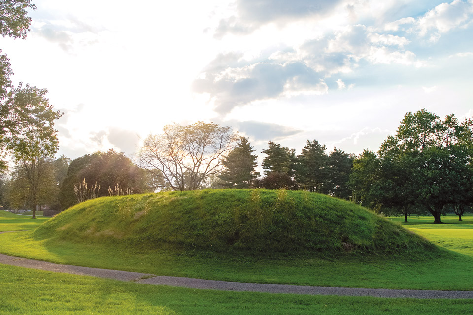 Newark Earthworks (photo courtesy of Ohio History Connection)
