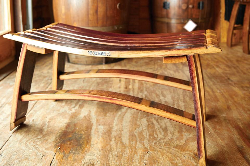 The Oak Barrel Co. bench
