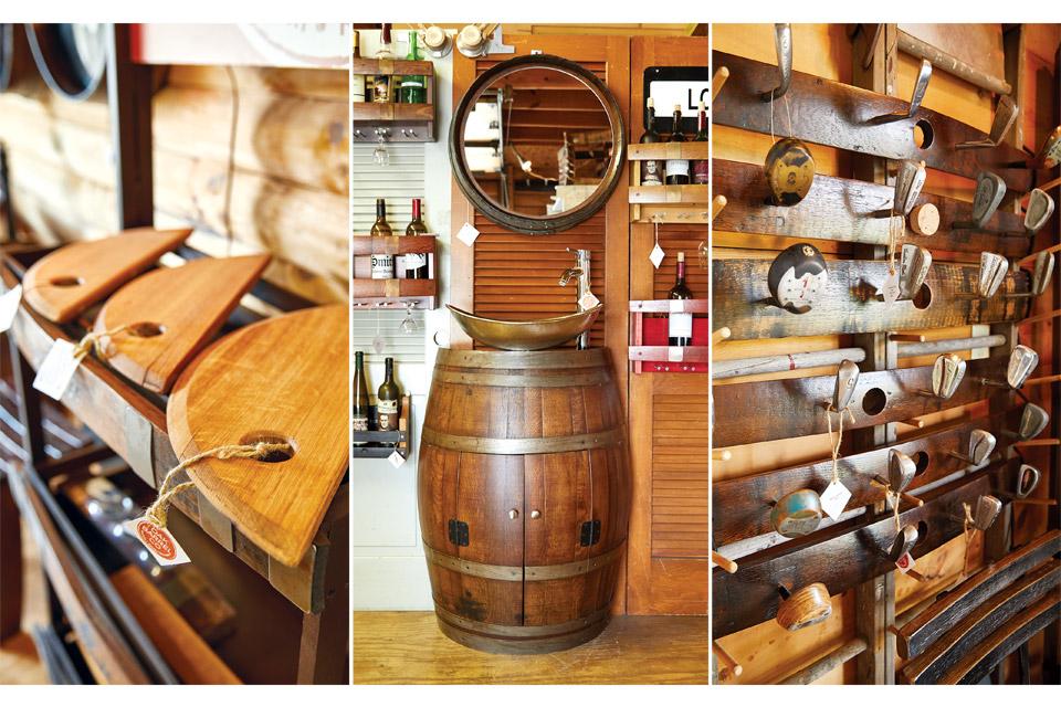 Oak Barrel Co. store detail shots (photo by Eric Wagner)