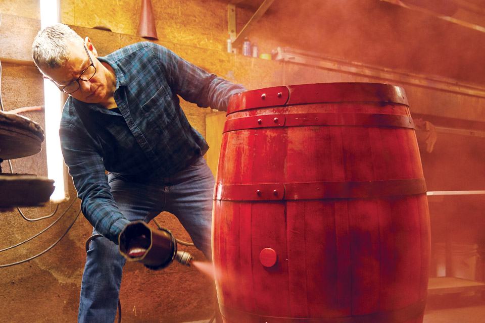 Chris Spray Coating Barrel