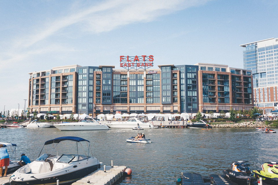 The Flats (photo courtesy of Destination Cleveland)