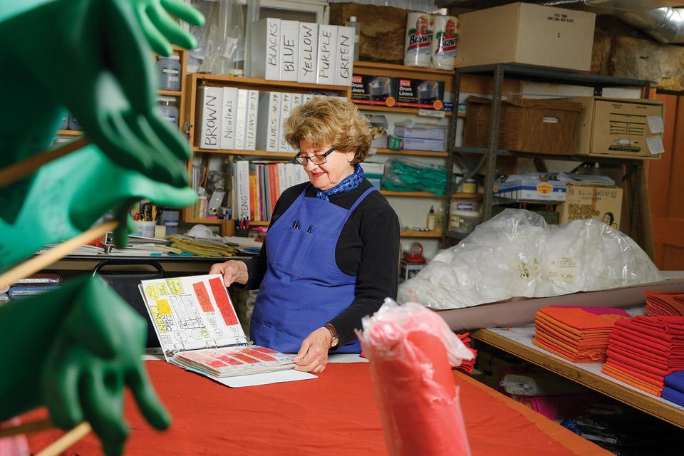 Nancy Crow in her home studio