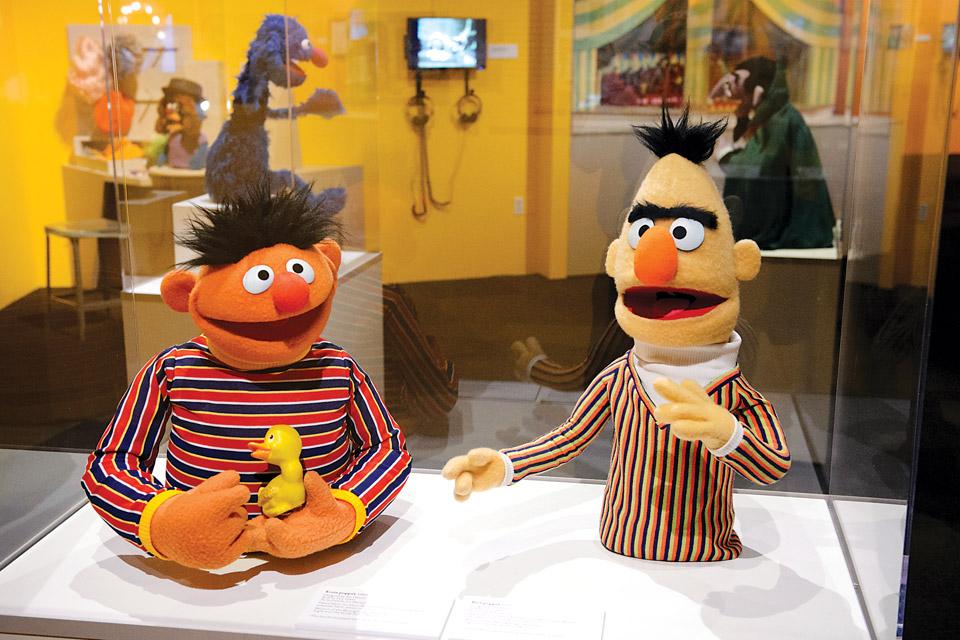 Ernie and Bert Talking (Photo by Jim Bennett)