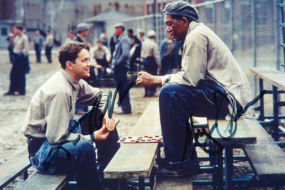 Shawshank Redemption, Andy and Red (photo courtesy of Destination Mansfield)