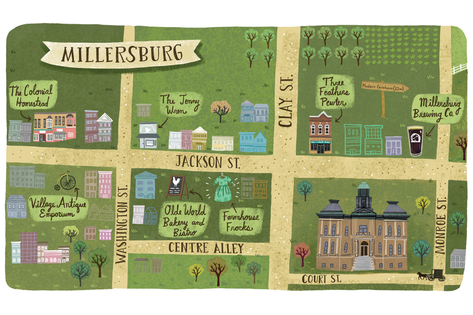 Map of Millersburg