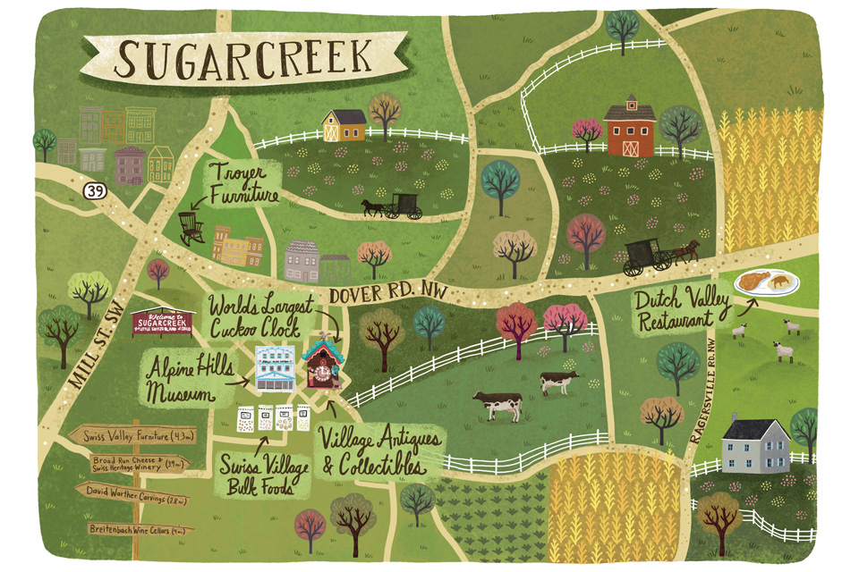 Map of Sugarcreek