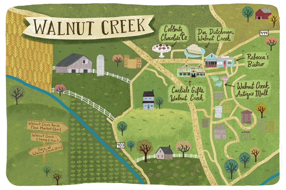 Map of Walnut Creek