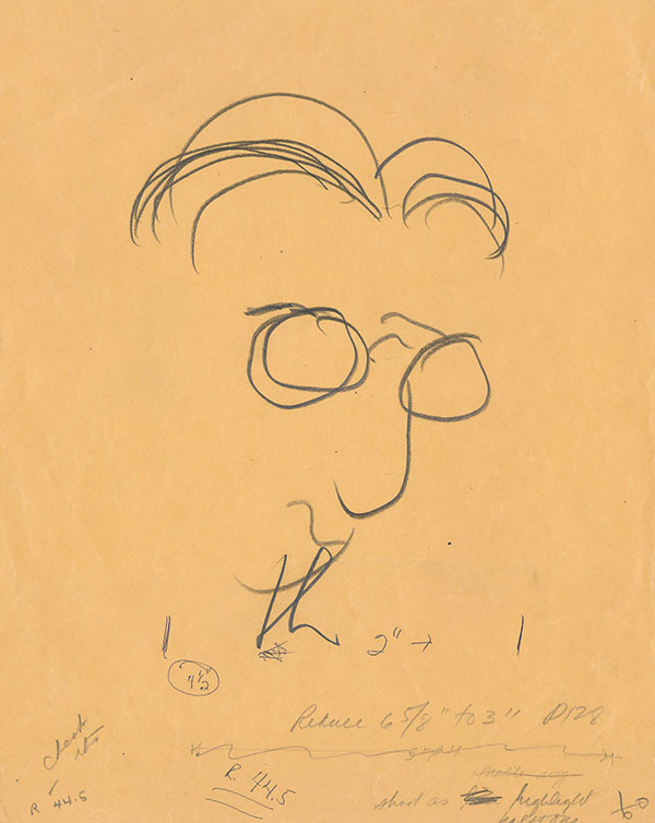 James Thurber Self Portrait (photo copyright 2019 by Rosemary A. Thurber)