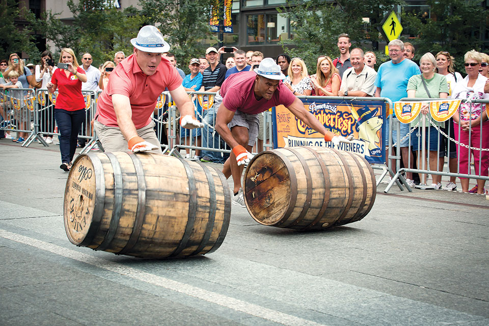 Oktoberfest Barrel Race (photo courtesy of Cincinnati USA Regional Chamber)