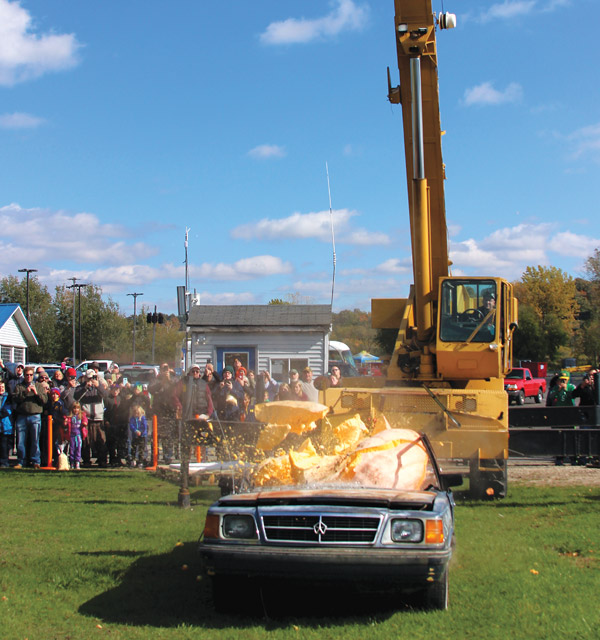 Michigan Benzie County Pumpkin Drop (photo courtesy of Benzie County)