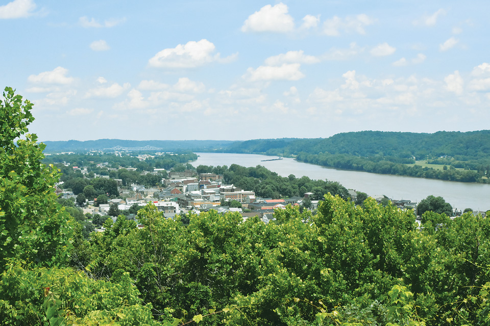 Downtown Gallipolis and the Ohio River