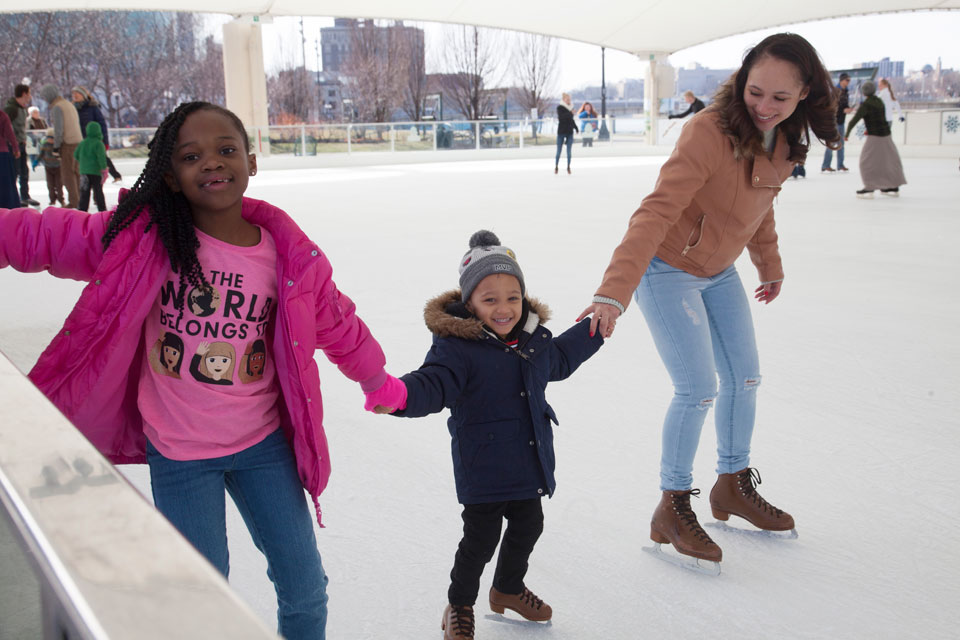 Riverscape Metropark Ice Rink in Dayton