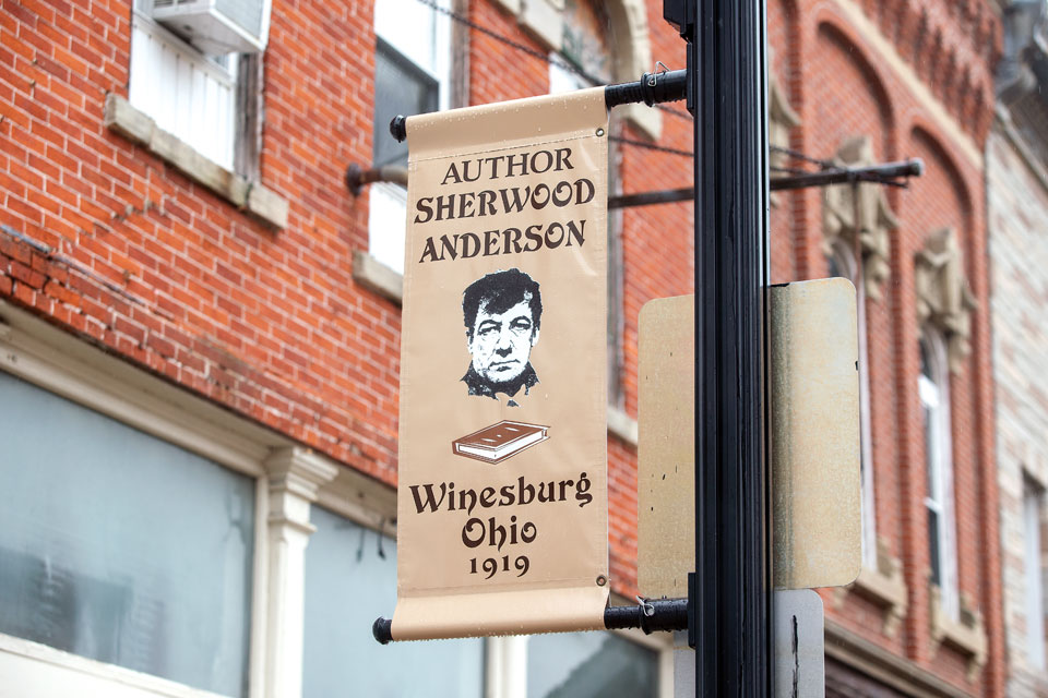 Sherwood Anderson sign in Clyde