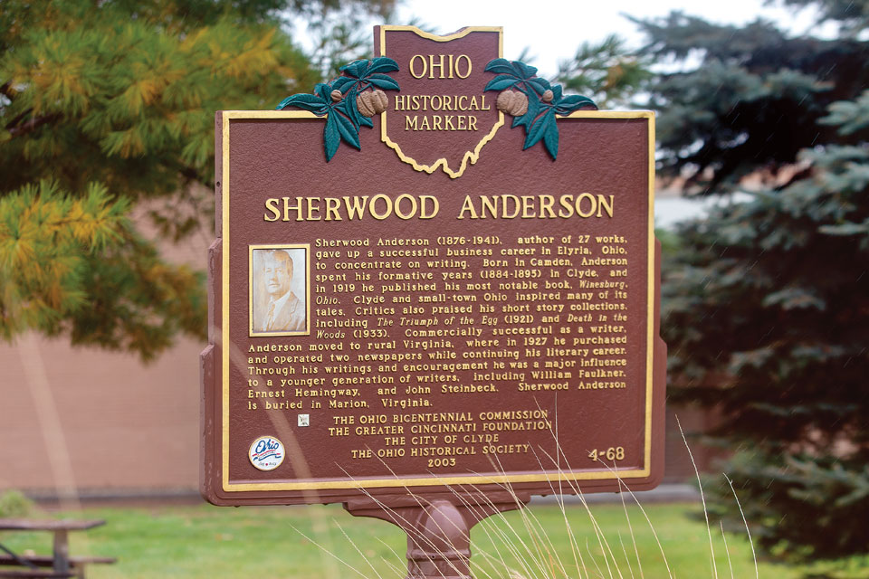 Sherwood Anderson Ohio Historical Marker