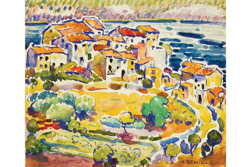 """Alice Schille's """"Costal Village"""""""