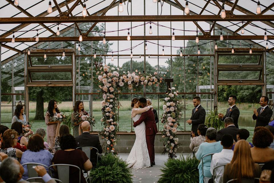 Willis Wedding Jorgensen Farm Ceremony (photo by Native Light Photography)