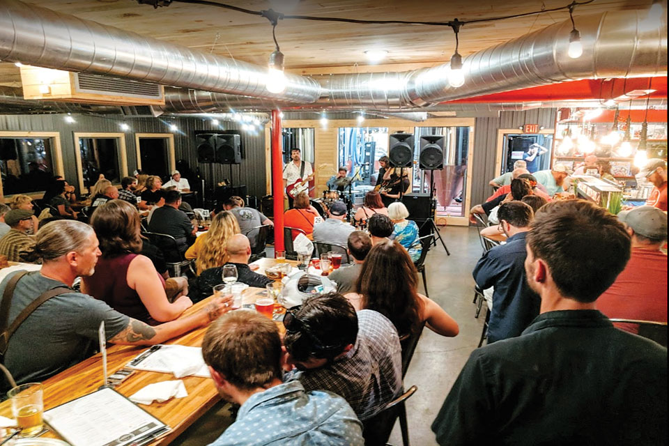 Live music at Lockport Brewery (photo courtesy of Lockport Brewery)