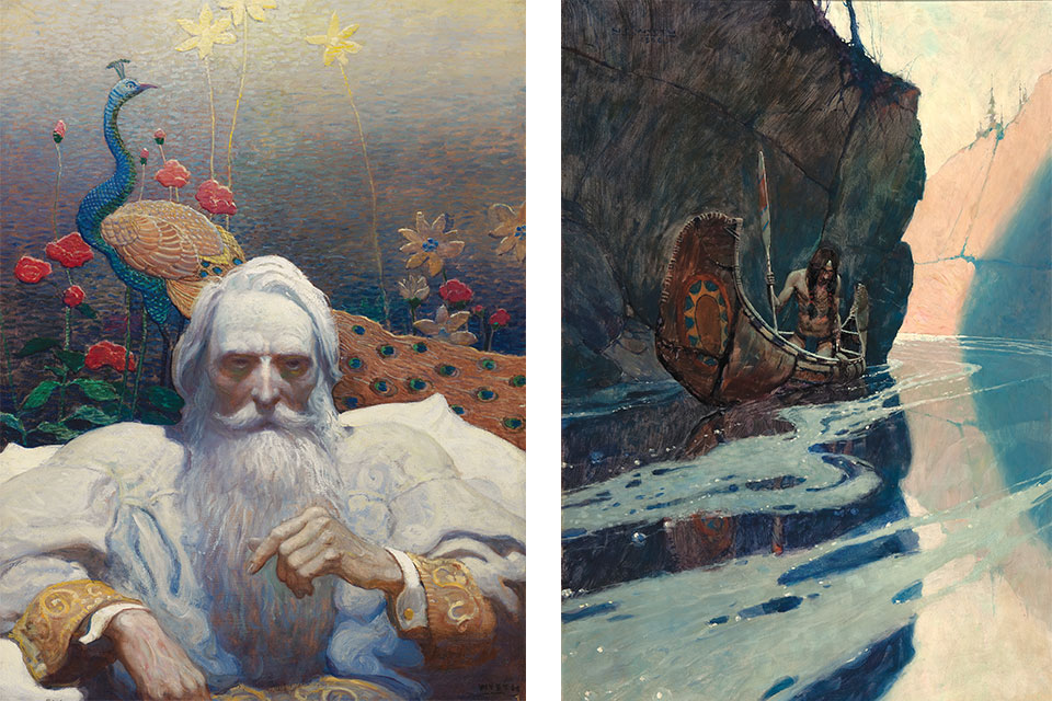 """N.C. Wyeth's """"Captain Nemo,"""" """"In the Crystal Depths"""""""