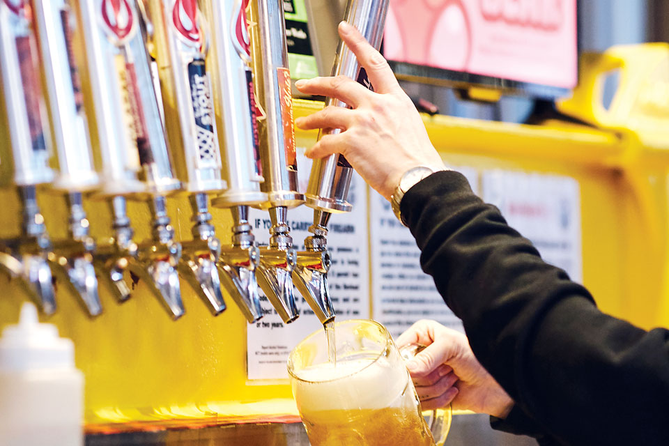 Saucy Brew Works' taps