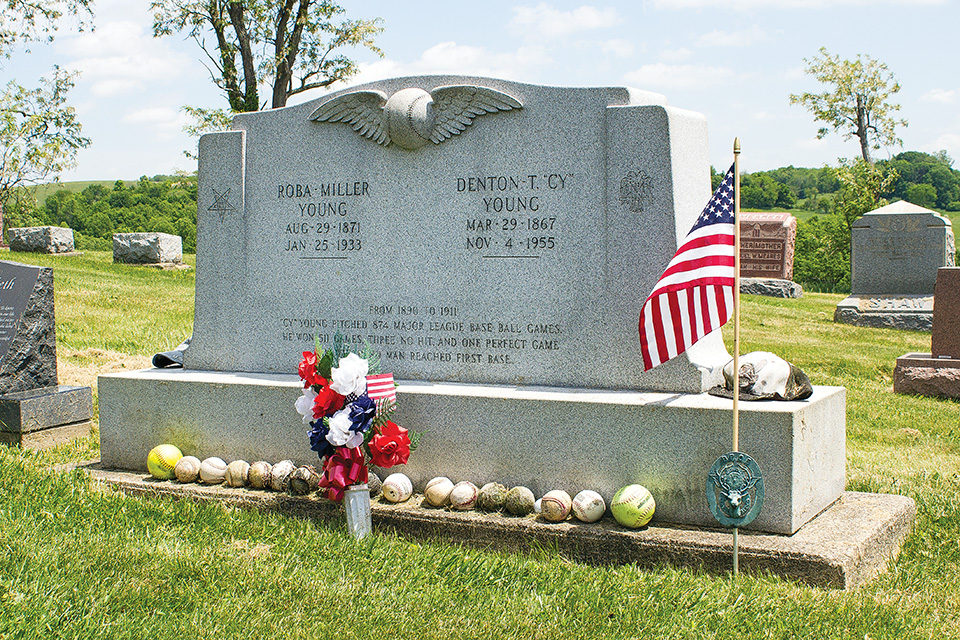 Cy Young's Grave (photo by Matt Kerr)