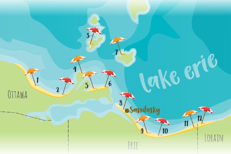 Beach map (map by Rachael Jirousek)