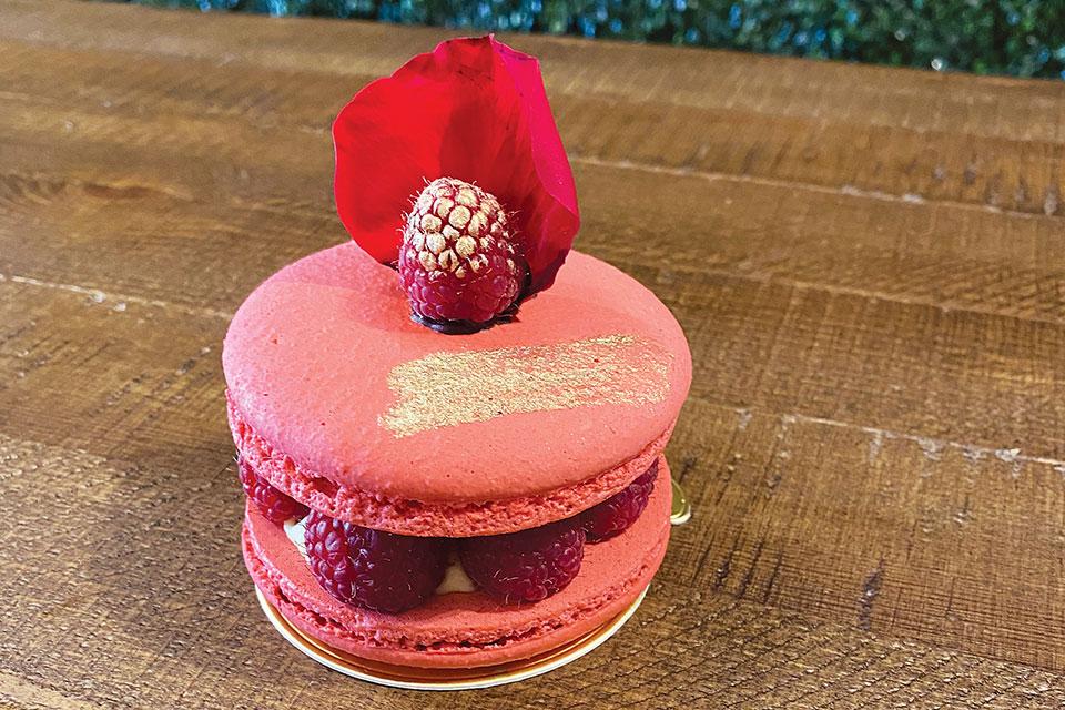 Macaron Tea Room raspberry macaron (photo courtesy of The Macaron Tea Room)