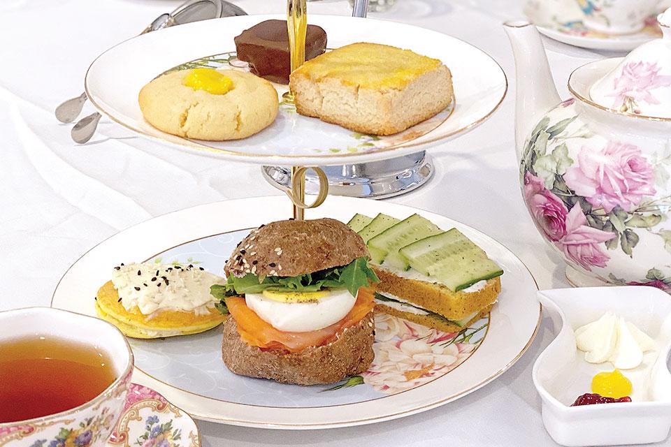 Macaron Tea Room tea service