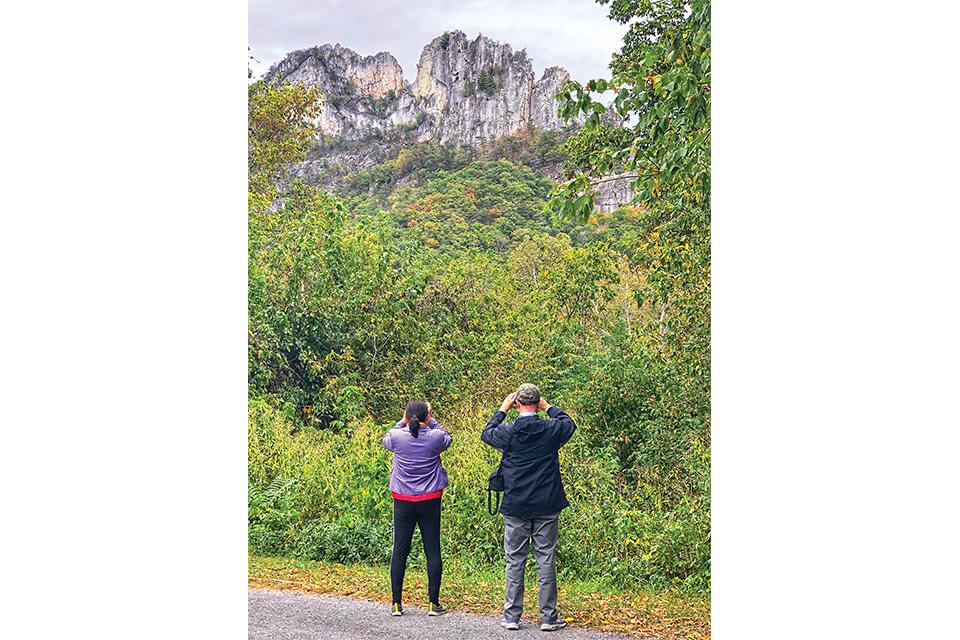 Seneca Rocks (photo courtesy of USDA Forest Service, by Kelly Bridges)